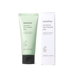 Маска для лица с вулканической глиной Innisfree Jeju Volcanic Color Clay Mask Cica Green (Фото 2)