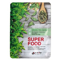 Тканевая маска с экстрактом зеленого чая EYENLIP Super Food Green Tea Mask