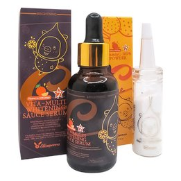 Набір для обличчя Elizavecca Vitamin C 100% Powder + Vita-Multi Whitening Sauce Serum