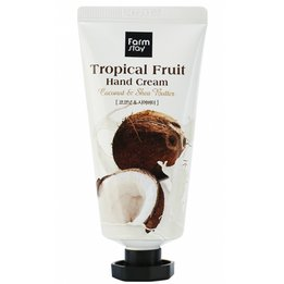 Крем для рук з екстрактом кокоса і маслом ши Farm Stay Tropical Fruit Hand Cream Coconut & Shea Butter