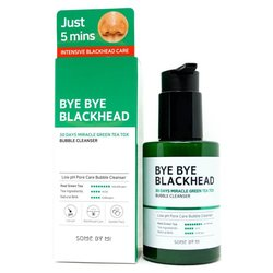 Киснева маска-пінка від чорних крапок SOME BY MI BYE BYE BLACKHEAD 30 Days Miracle Green Tea Tox Bubble Cleanser (Фото 2)